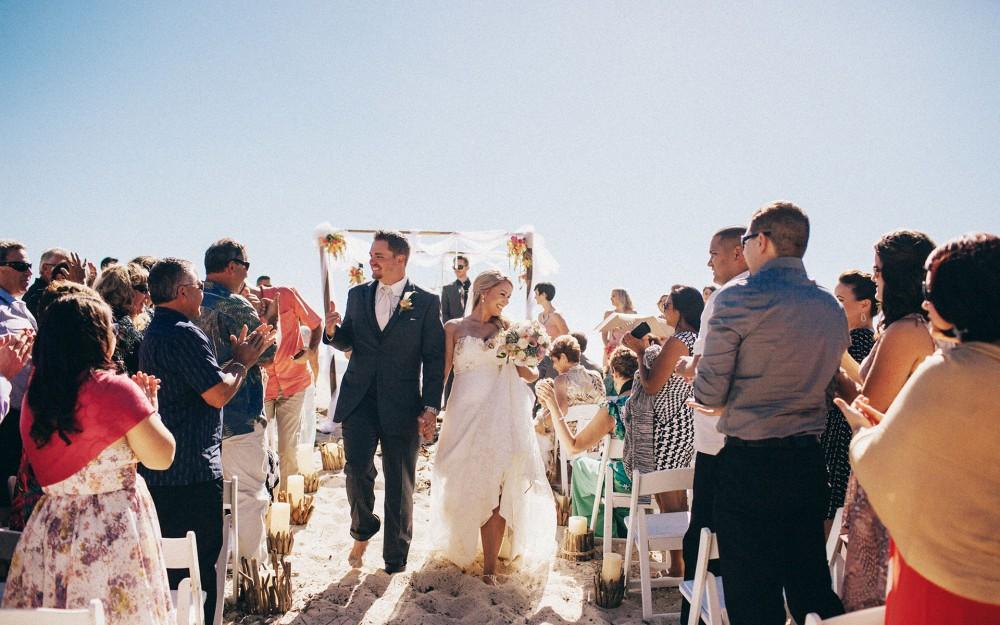 A sunny beach wedding in Carmel California by Heather Elizabeth Photography