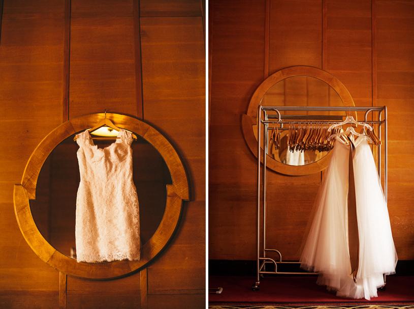 Avante Garde wedding dress at the San Francisco City Club by Heather Elizabeth Photography
