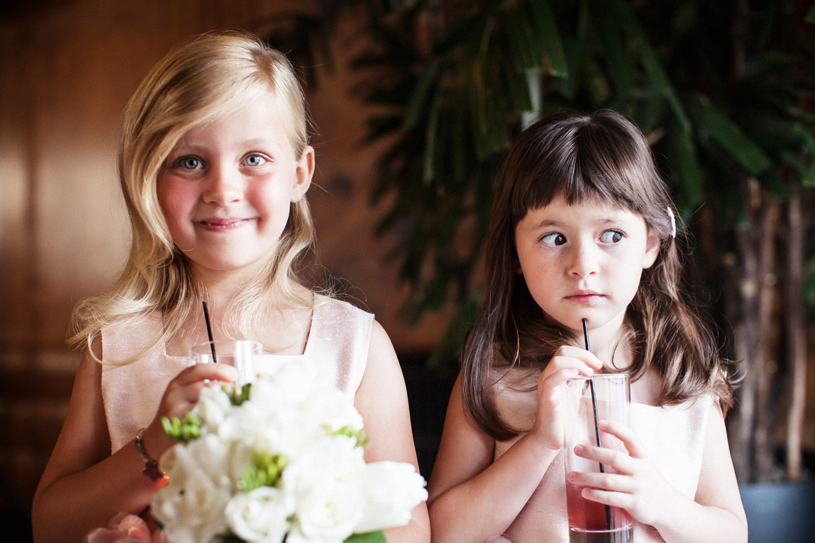 Adorable Flower girls at the San Francisco City Club by Heather Elizabeth Photography