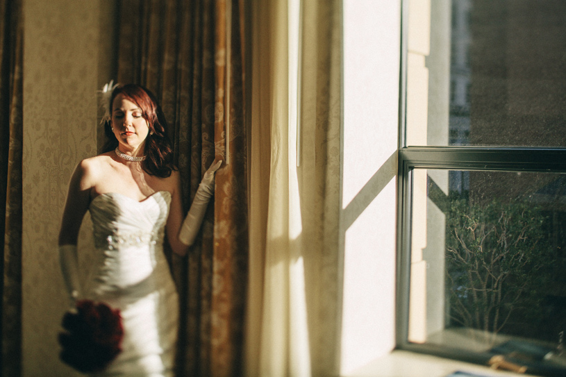Fine art bridal portrait taken at the Omni Hotel in San Francisco