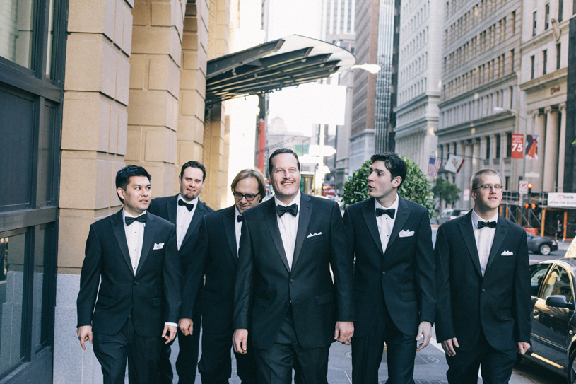 Classic Dapper black tire wedding at the Omni Hotel in San Francisco