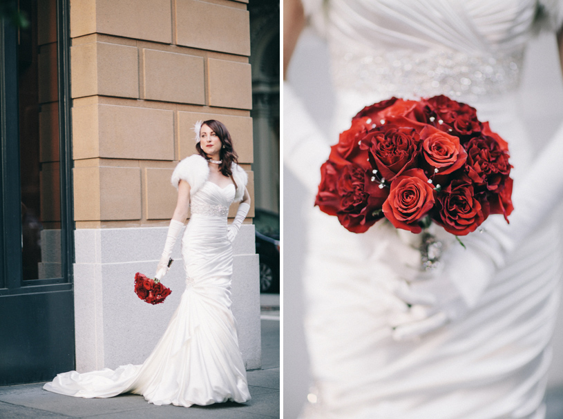 Classic winter wedding with a Maggie Sottero Gown