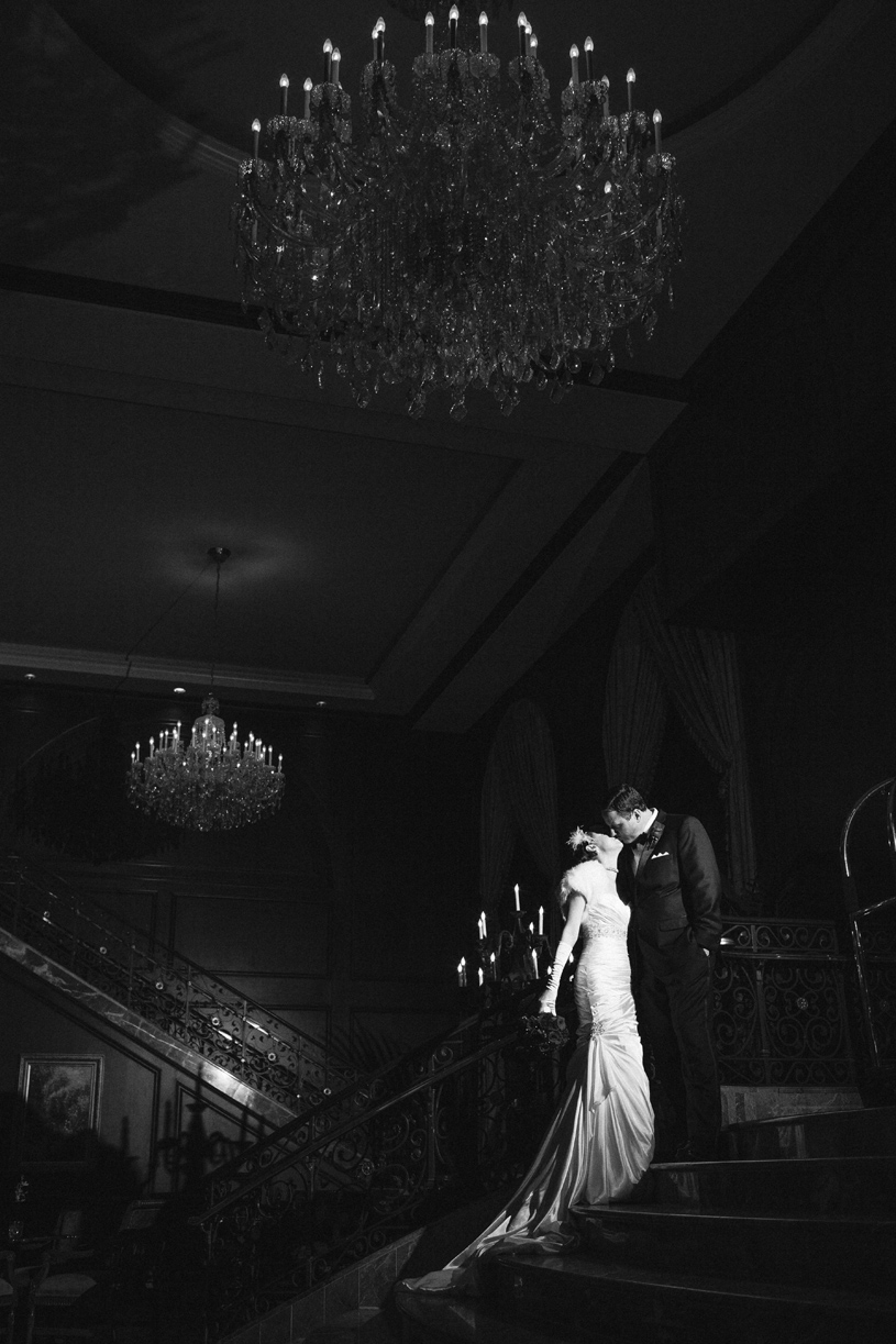 Mad men vintage hollywood styled wedding inspiration at the Omni Hotel in San Francisco