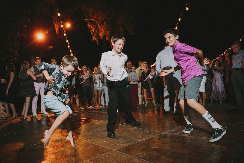 crazy candid kids dancing at a wedding reception in woodland california