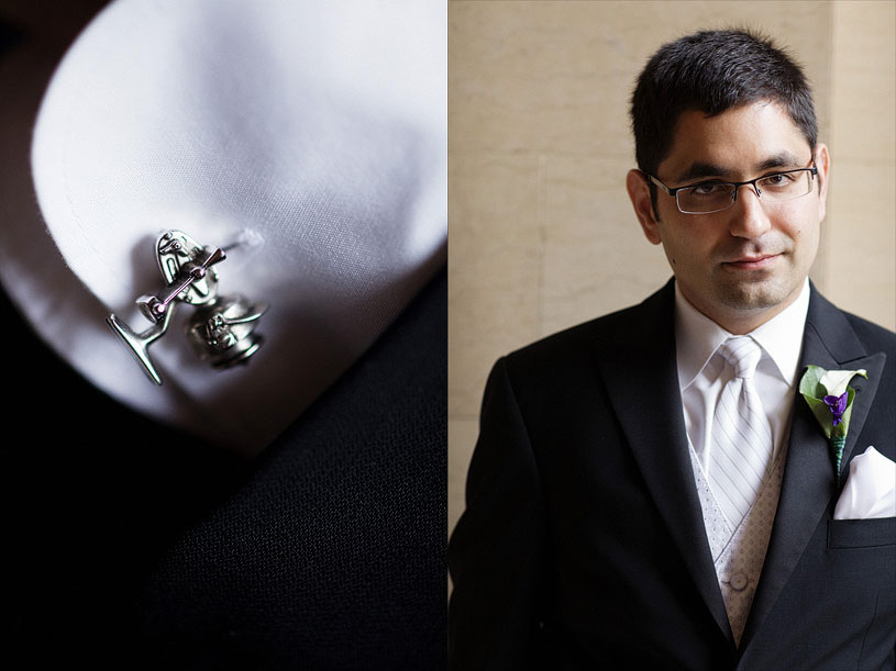 creative cuff link and groom portrait at the citizen hotel