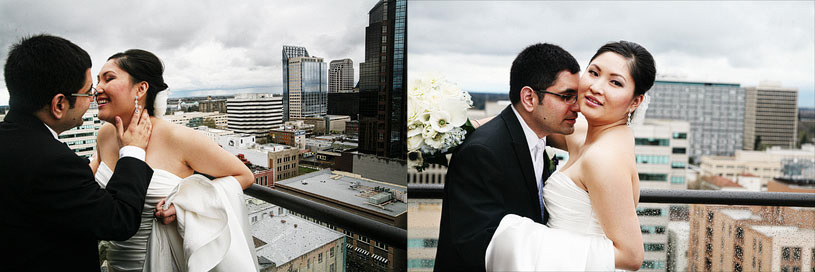 Sweet bride and groom images at the Citizen Hotel