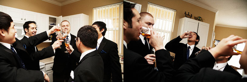 Groomsmen getting ready at the Citizen Hotel