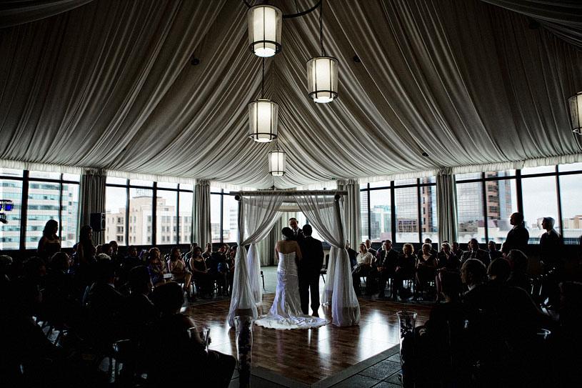 Fine art wedding ceremony at the Citizen Hotel