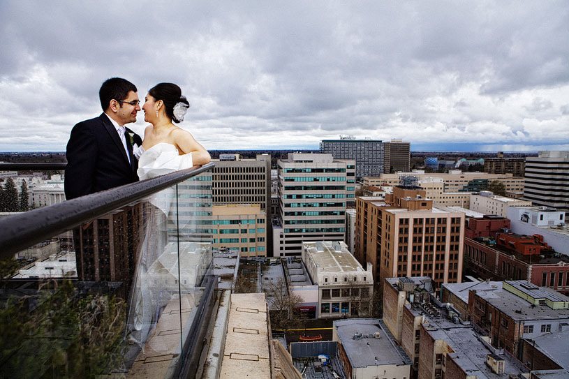 Fine Art Wedding Portrait of a bride and groom in the Governor's suite at the Citizen Hotel
