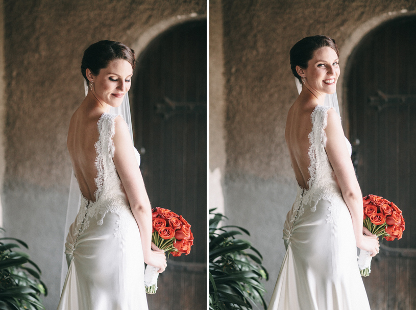 Handmade vintage Bridal gown at the Swedenborgian Church