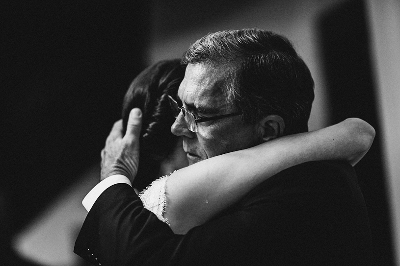 Emotional Wedding Photograph of a father and daughter dance at the Swedenborgian Church