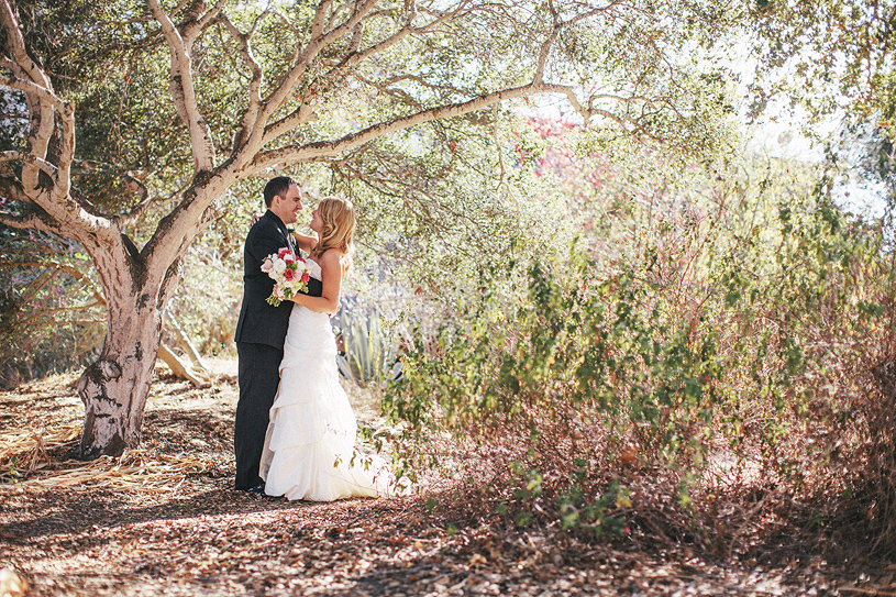 Romantic photo in Carmel during a wedding at the Perry House
