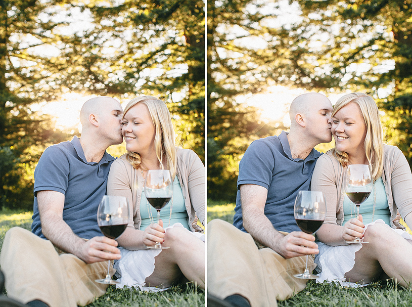 Wine lovers engagement session at Tilden Park