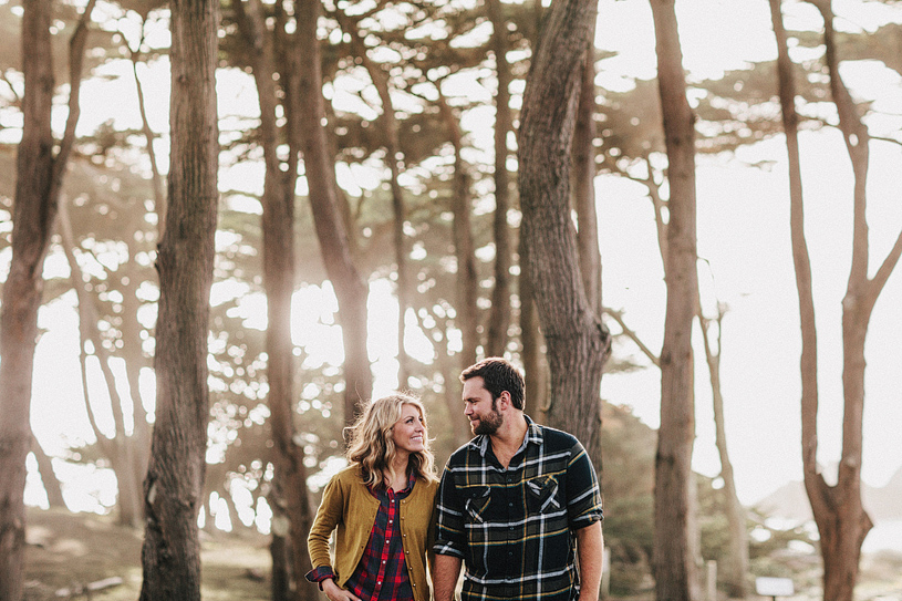 Land's End Outdoorsy engagement session in San Francisco