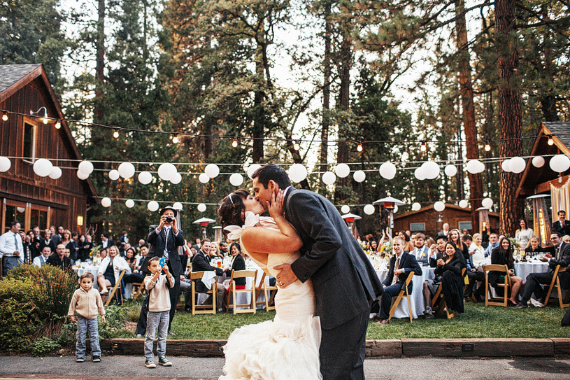 Wedding Reception at the Evergreen Lodge in Yosemite