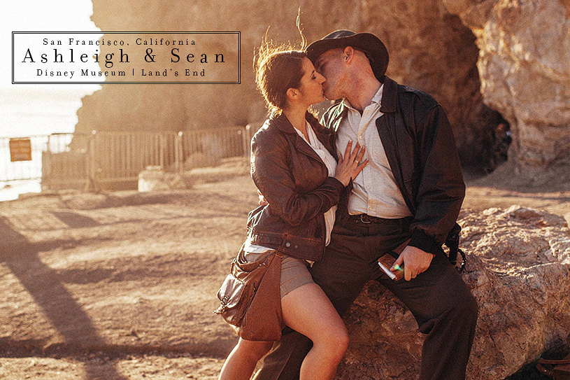 Engagement session at Land's End and Disney Museum in San Francisco