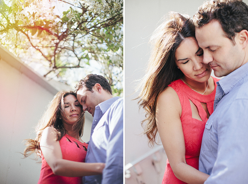 Intimate engagement photograph