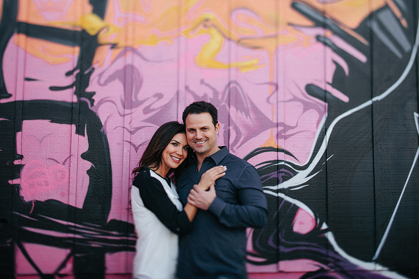 Creative fine art engagement session in San Francisco with Graffiti Wall