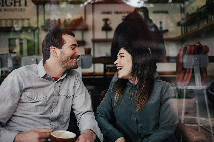 A sweet Coffee engagement session in Sacramento