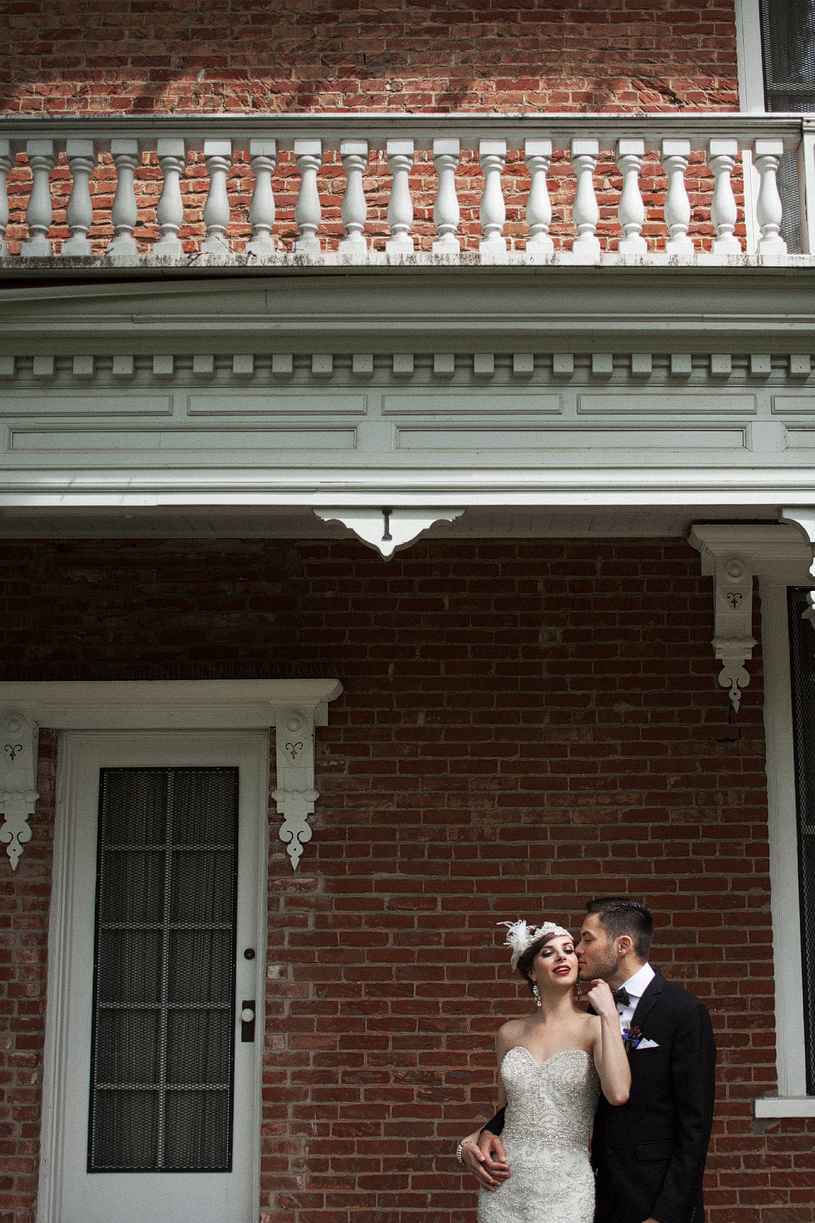 Avante Garde Wedding Photo at the Gibson House in Woodland