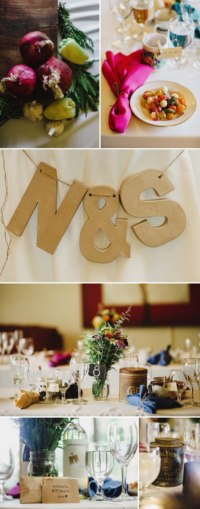 Coffee themed wedding in Sacramento with DIY vintage details