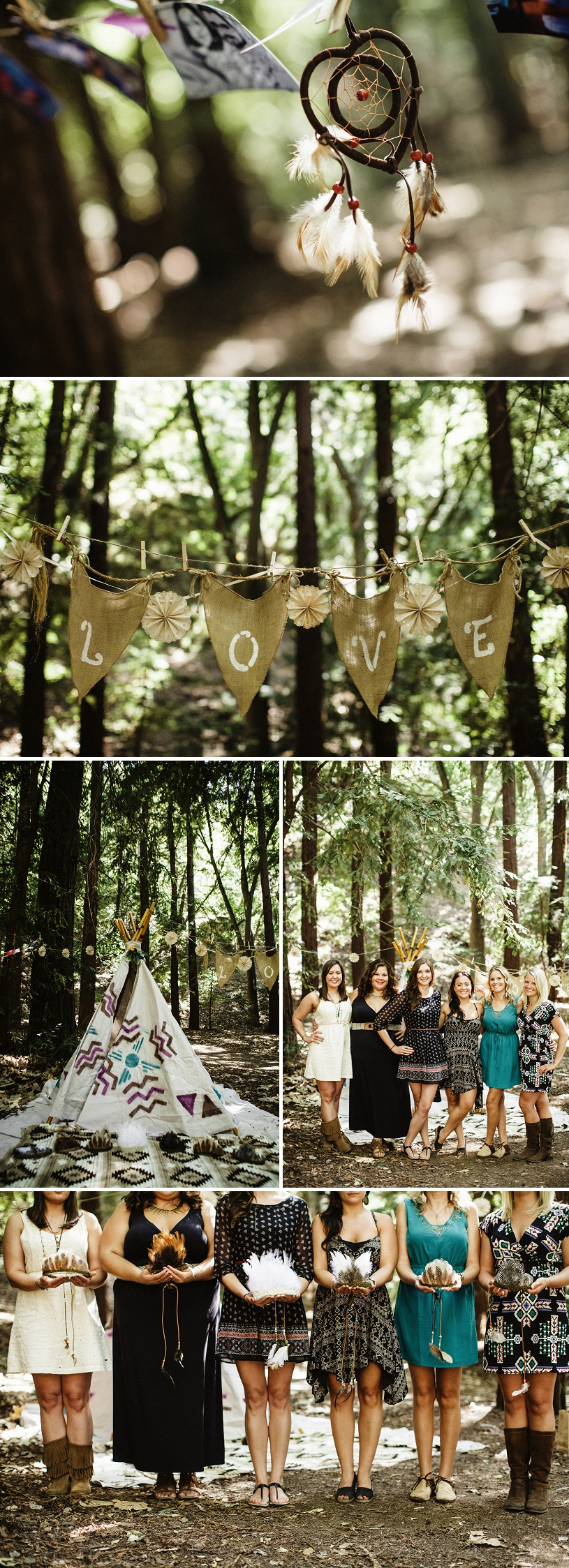 Adorable Native American Bachelorette Party theme in Big Sur