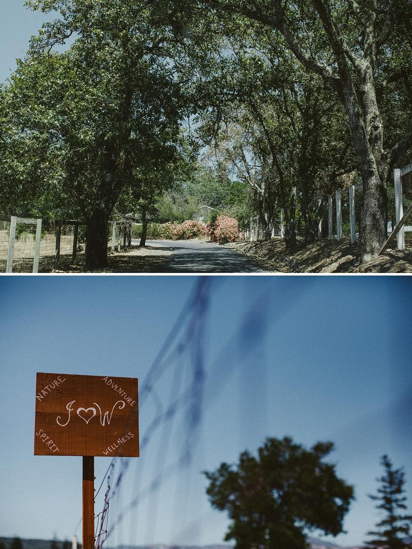 handmade wedding adventure sign