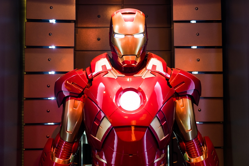 Iron Man Display at Tomorrow Land in Disneyland