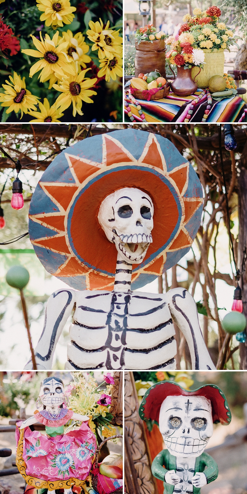 Halloween Day of the Dead display at Disneyland
