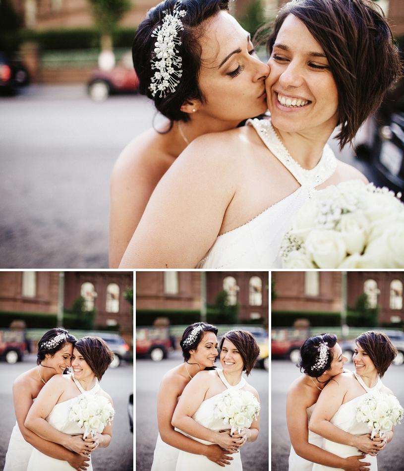 Lesbian wedding at the San Francisco Fairmont Hotel