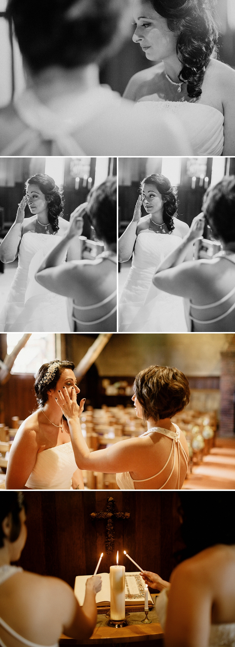 Emotional Lesbian wedding ceremony
