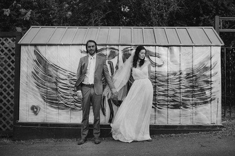 Hipster Bohemian Wedding couple
