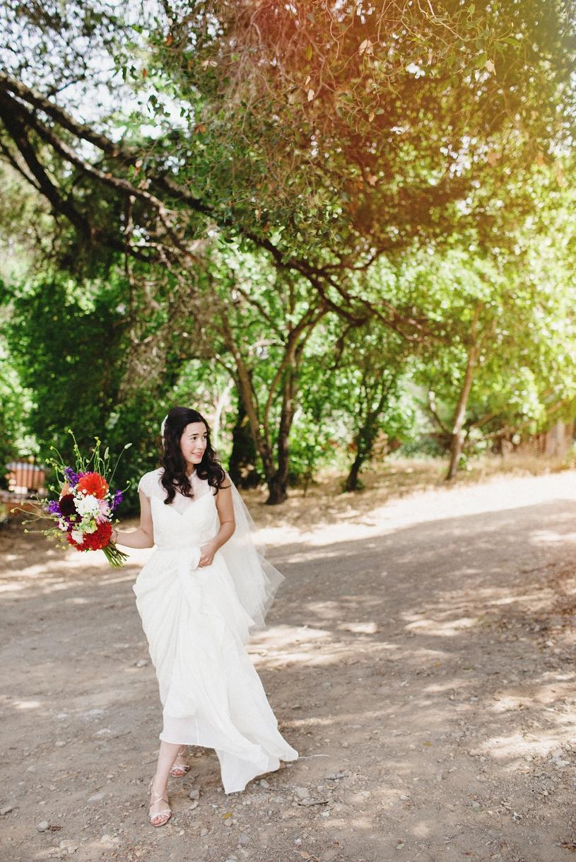 Sonoma Valley wedding Bohemian Bride