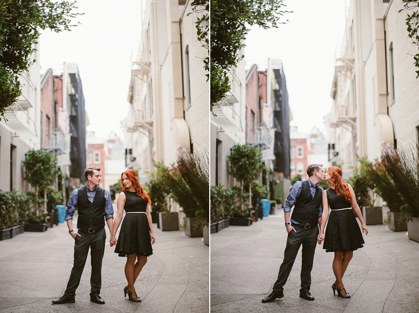 French city inspired engagement session