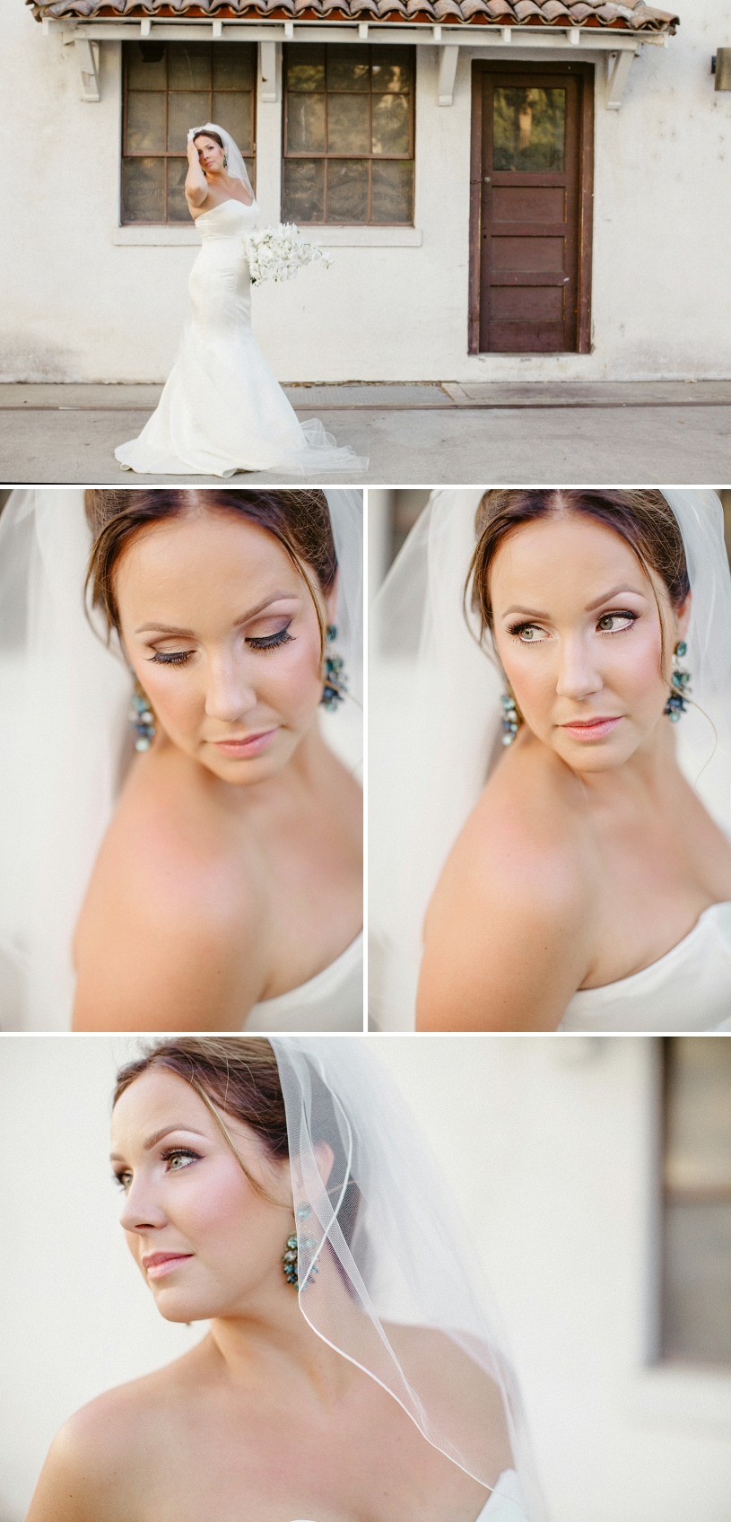 modern cat eye makeup look at a wente vneyard wedding