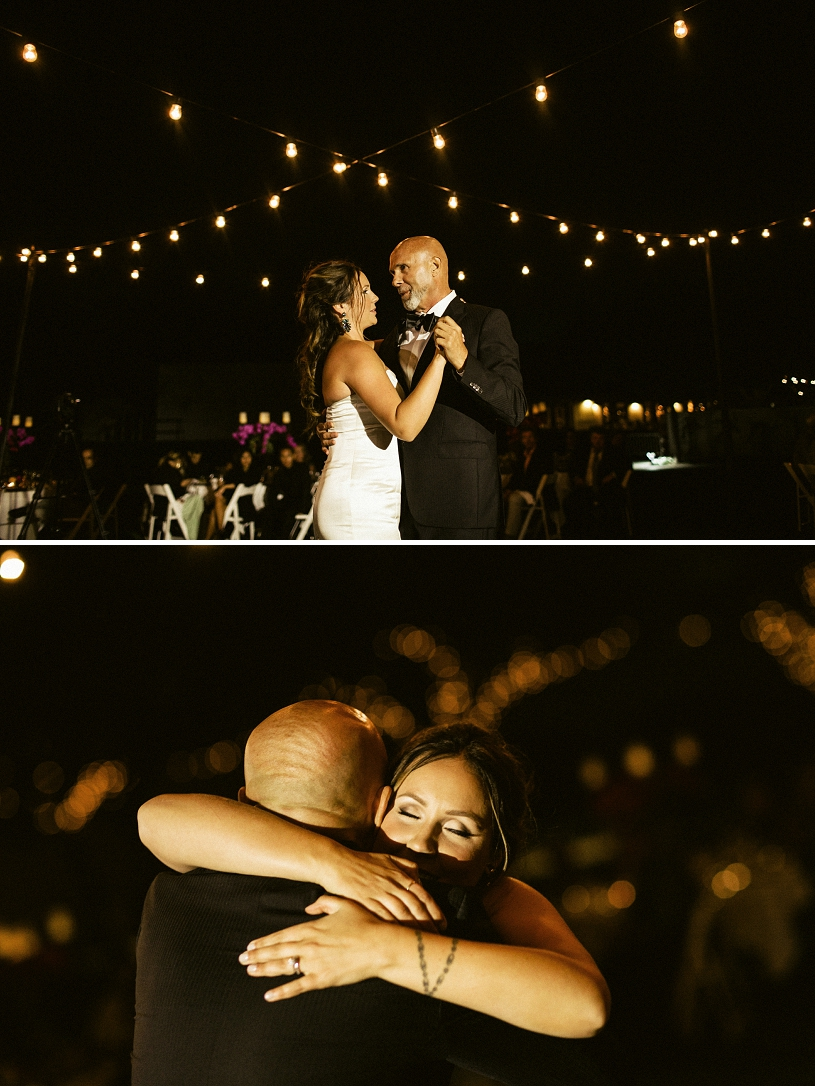 father and daughter dance at wente vineyards