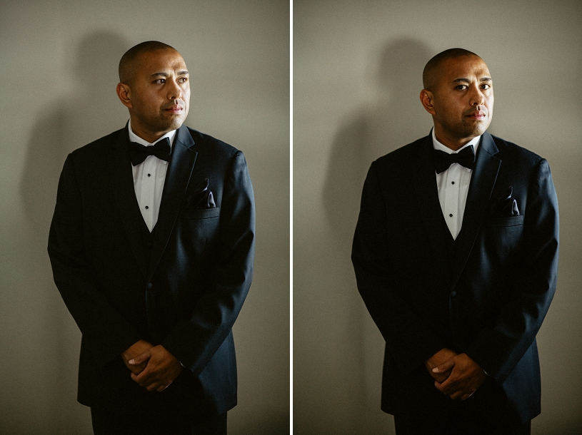 Groom portrait taken at Wente Vineyard
