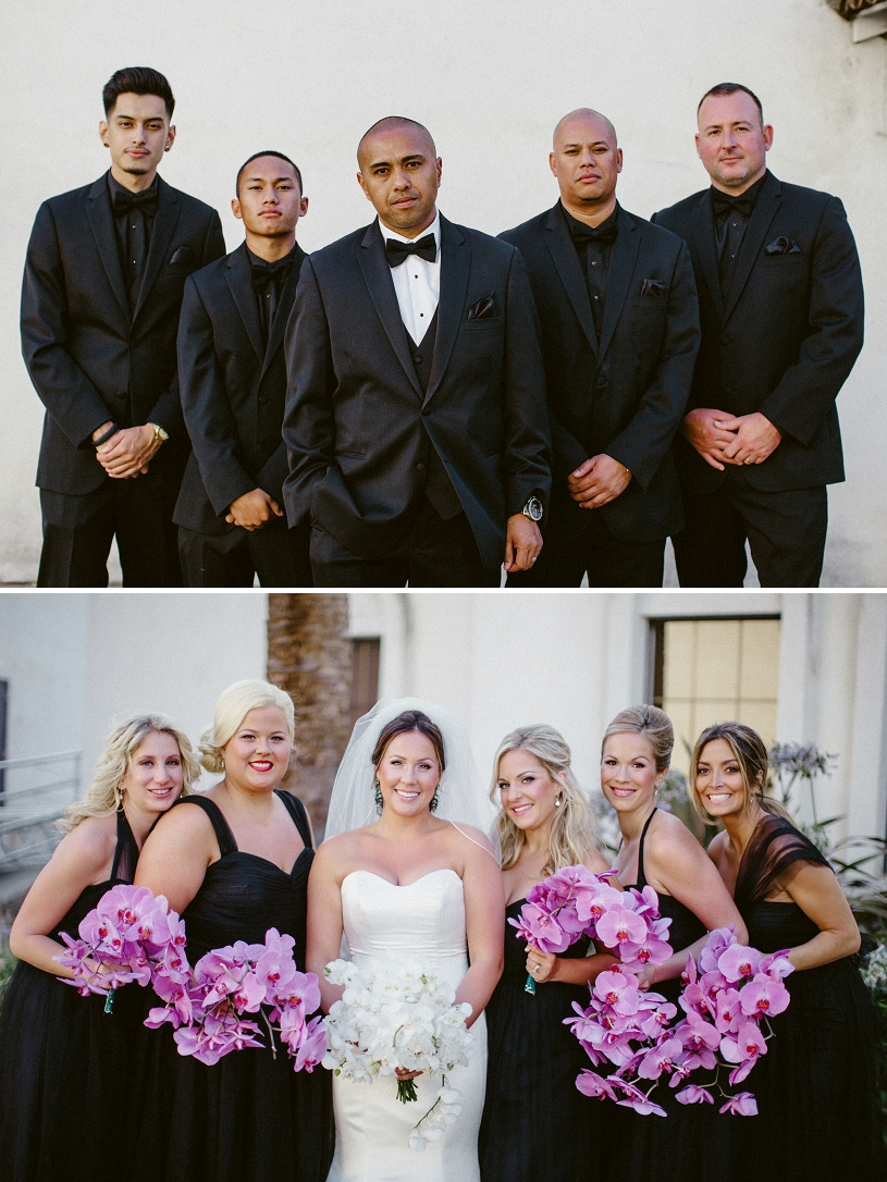 bridal party portraits at wente vineyards