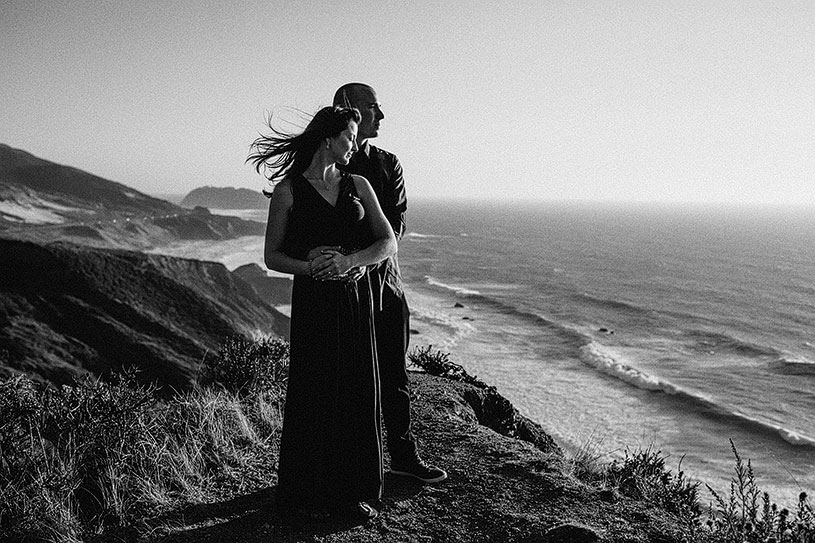 Romantic and intimate Big Sur engagement