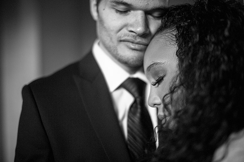 Romantic and sweet African American elopement at City Hall San Francisco