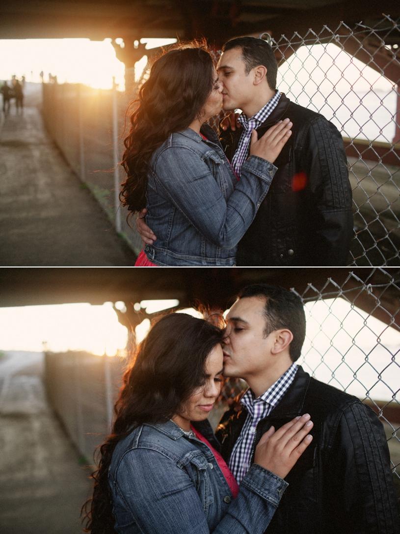 Engagement session under the Golden Gate Bridge