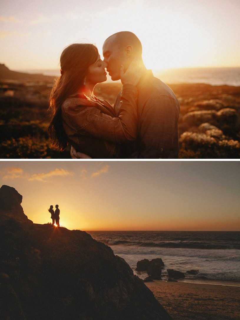 breathtaking views in Big Sur for a romantic engagement session