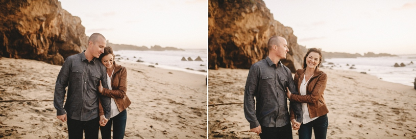 Candid sweet engagement moments in Big Sur