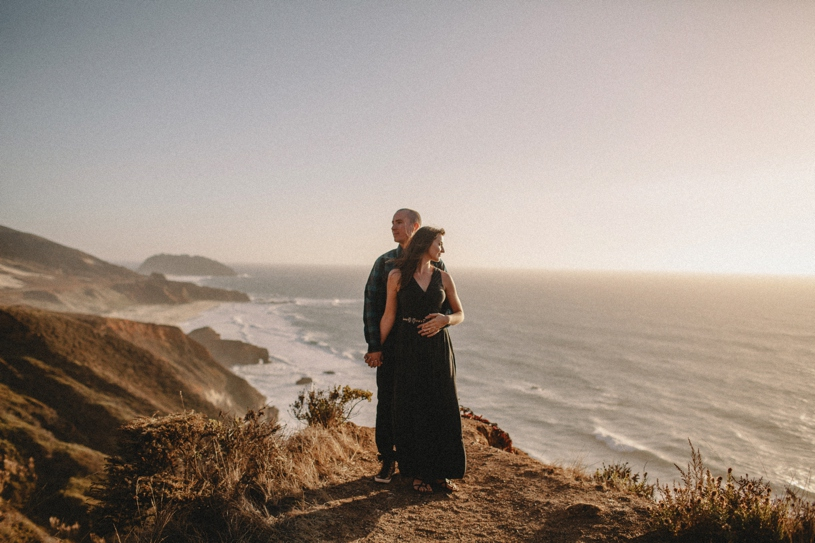 Big Sur Coast line engagement session