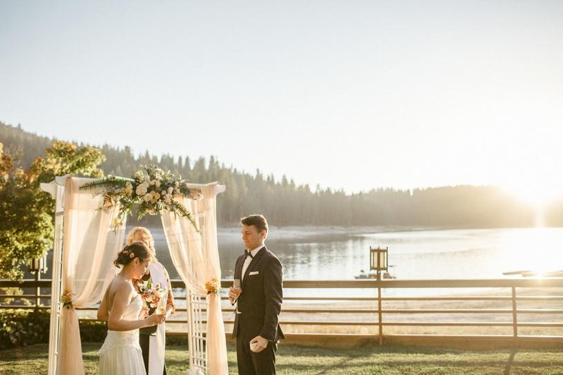 wedding at bass lake pines resort