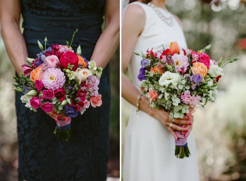 fun colorful summer bridal bouqet