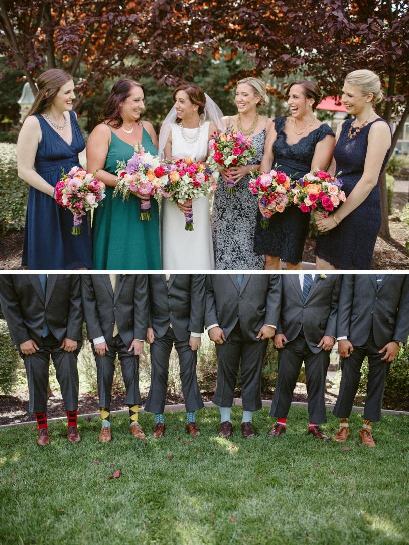 fun colorful summer bridal party fashion