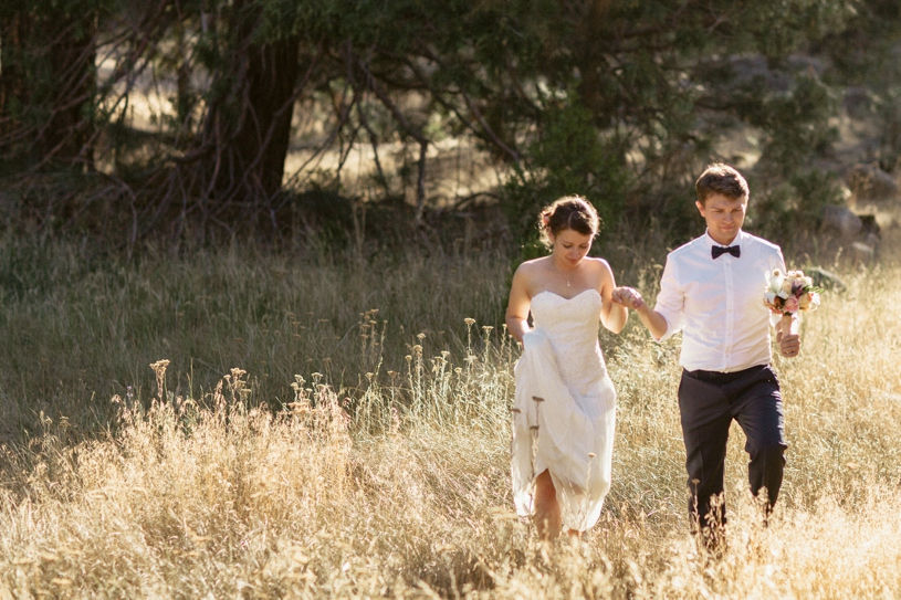 romantic field photo taken at an elopement in yosemite