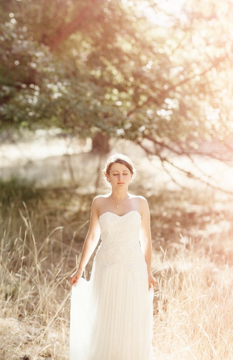 fine art bridal portrait in Yosemite