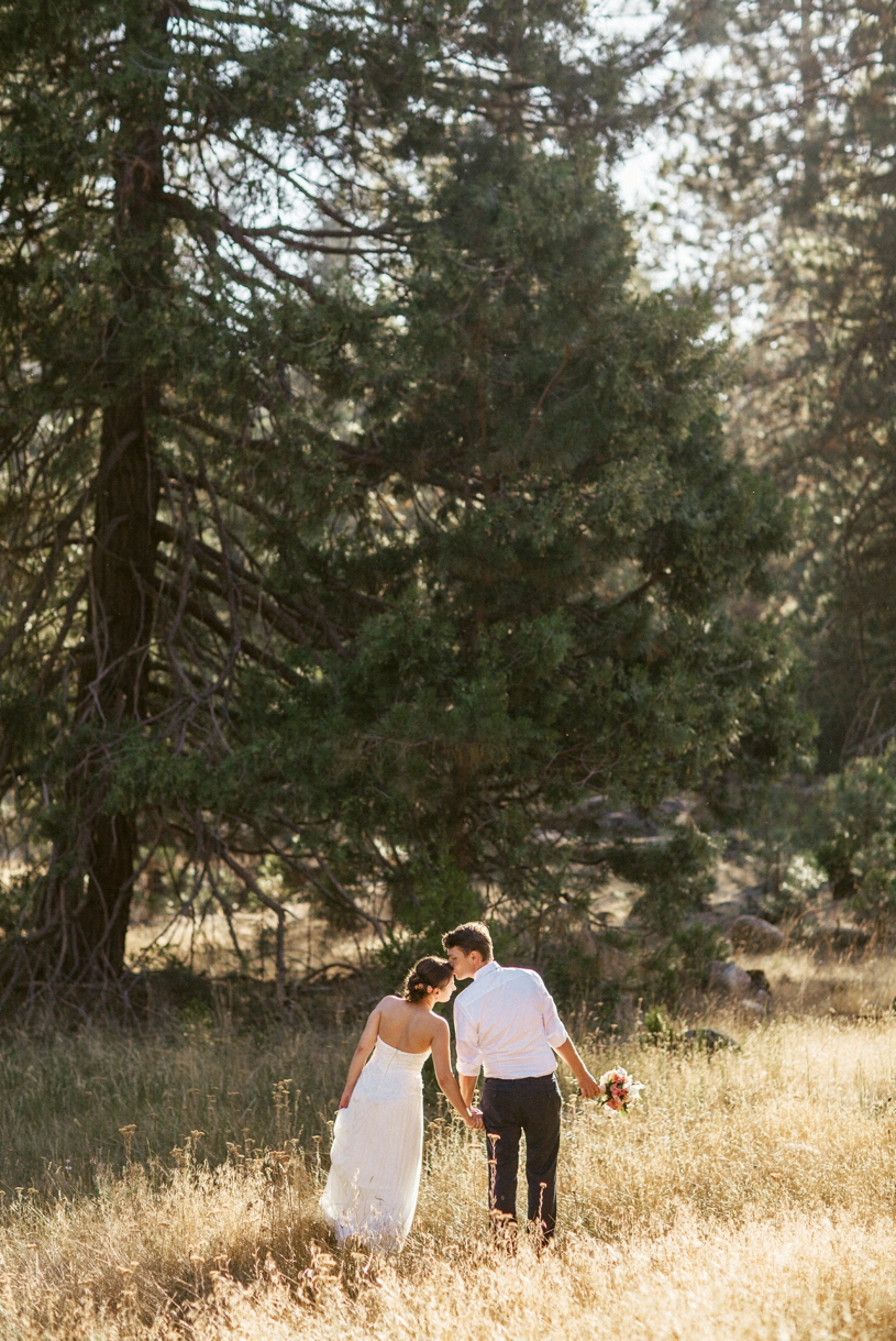 romantic Yosemite elopement